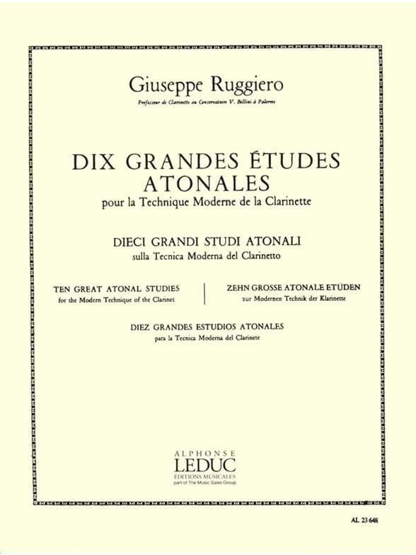 10 Grandes études atonales - Giuseppe Ruggiero - laflutedepan.com