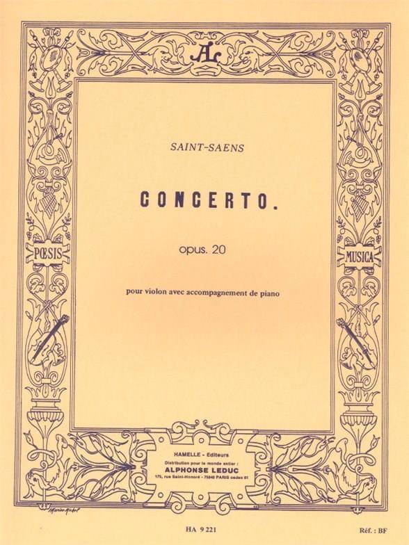 Camille Saint-Saëns - Violin Concerto op. 20 - Partition - di-arezzo.com