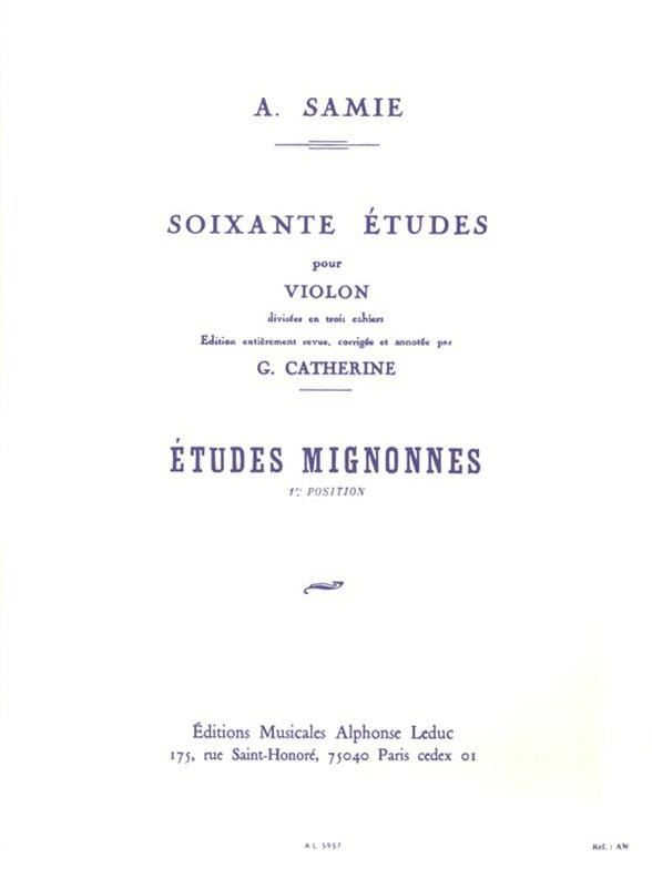 A. Samie - 60 Studies Volume 1 - Cute Studies - Partition - di-arezzo.co.uk
