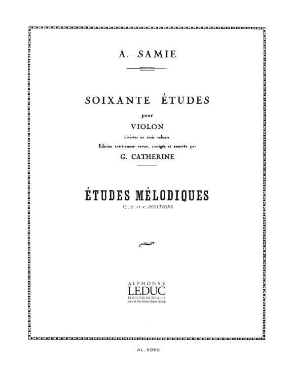 60 Etudes, Volume 3 - Etudes mélodiques - A. Samie - laflutedepan.com