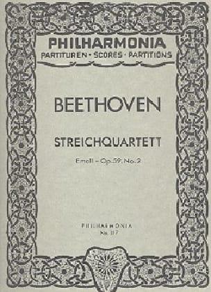 Streichquartett e-moll op. 59 n° 2 - Partitur - laflutedepan.com