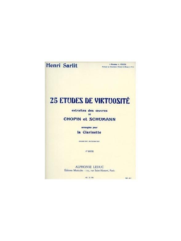 25 Etudes de Virtuosité - 1re Suite - Henri Sarlit - laflutedepan.com