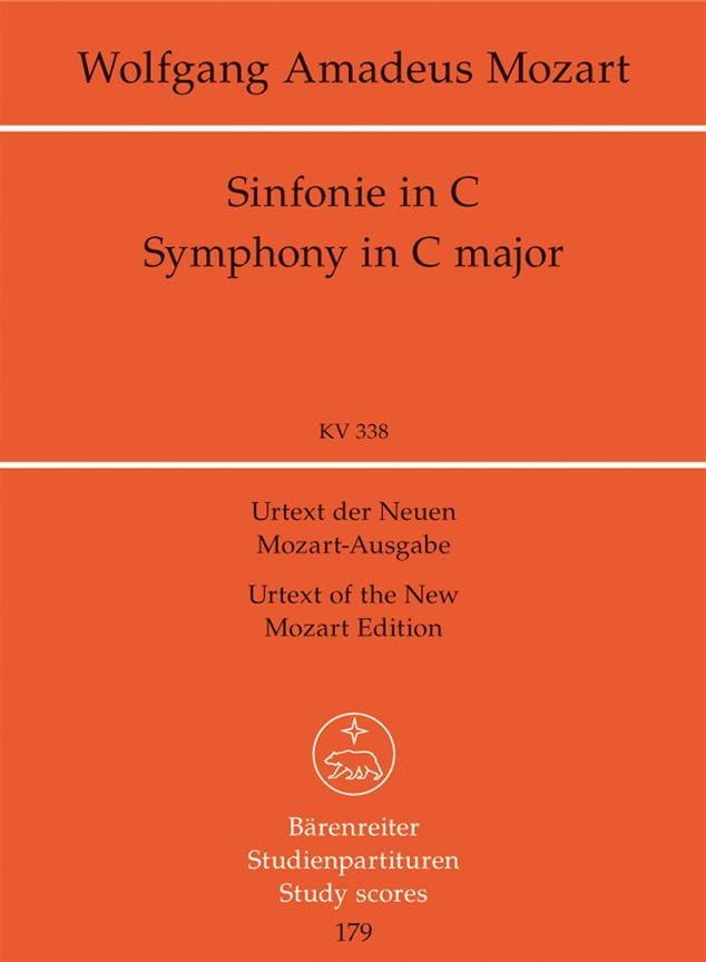 Symphonie Nr. 34 C-dur KV 338 - Partitur - MOZART - laflutedepan.com