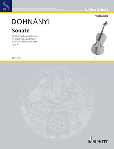 Sonate Op. 8 - Ernst von Dohnanyi - Partition - laflutedepan.com