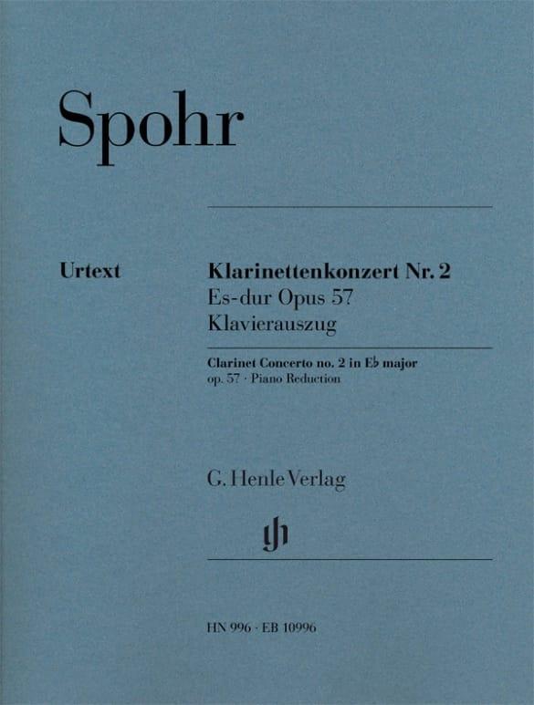 Louis Spohr - Clarinet Concerto No. 2, op. 57 - Partition - di-arezzo.co.uk