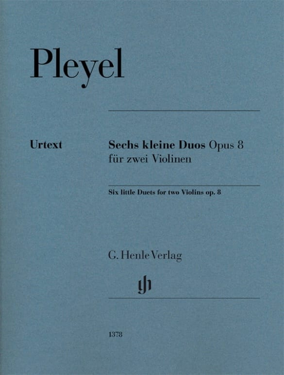 6 Petits Duos - Ignaz Pleyel - Partition - Violon - laflutedepan.com