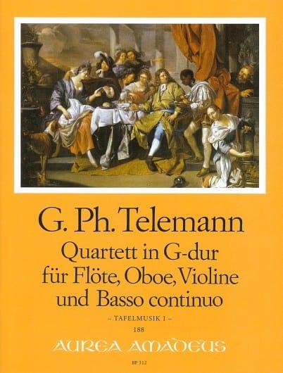 Quatuor en Sol Majeur - TELEMANN - Partition - laflutedepan.com