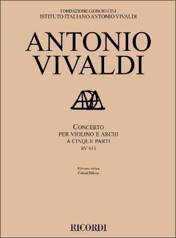 Concerto RV 813 - VIVALDI - Partition - laflutedepan.com