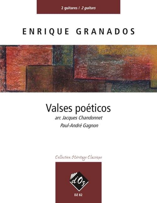 Valses Poéticos - 2 Guitares - GRANADOS - Partition - laflutedepan.com