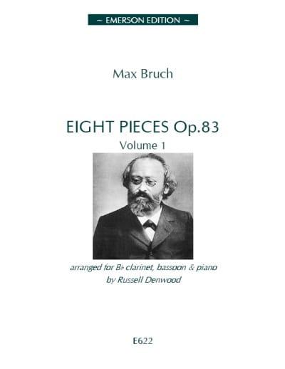 8 Pièces op. 83 - Volume 1 - BRUCH - Partition - laflutedepan.com