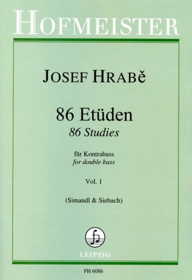 Josef Hrabe - 86 Etudes pour Contrebasse - Volume 1 - Partition - di-arezzo.fr