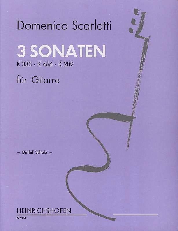 Domenico Scarlatti - 3 Sonates - Guitare - Partition - di-arezzo.fr