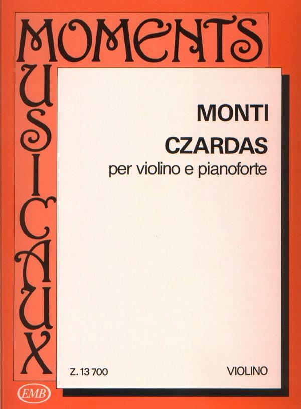Vittorio Monti - Czardas - Violin and Piano - Partition - di-arezzo.co.uk