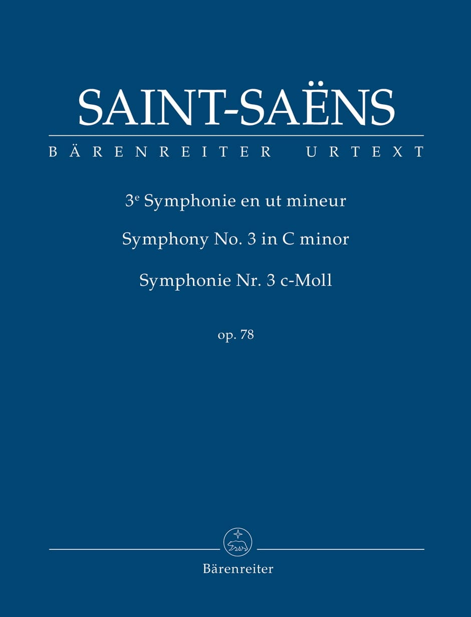 Symphonie n° 3, opus 78 - SAINT-SAËNS - Partition - laflutedepan.com