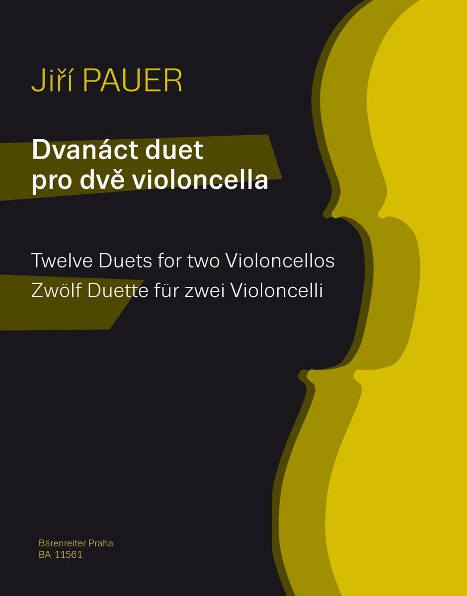 12 Duos - Jiri Pauer - Partition - Violoncelle - laflutedepan.com