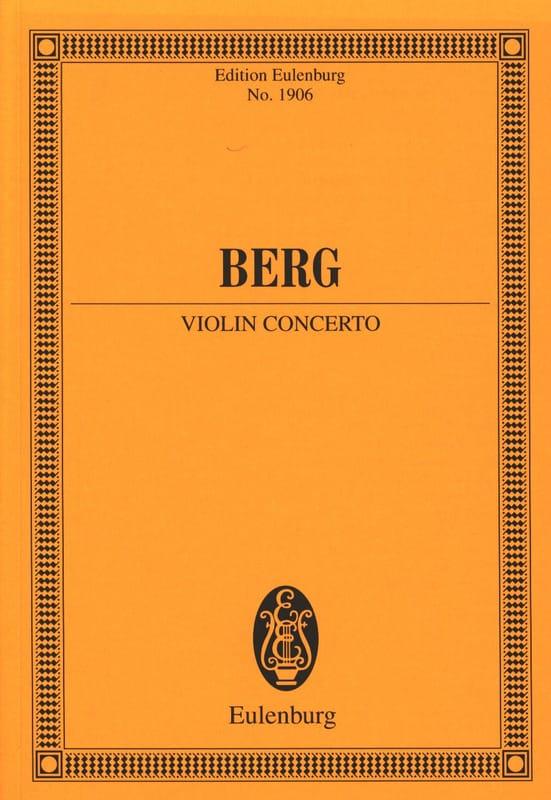 Concerto pour Violon - BERG - Partition - laflutedepan.com