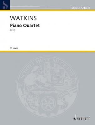 Quatuor avec Piano - Huw Watkins - Partition - laflutedepan.com