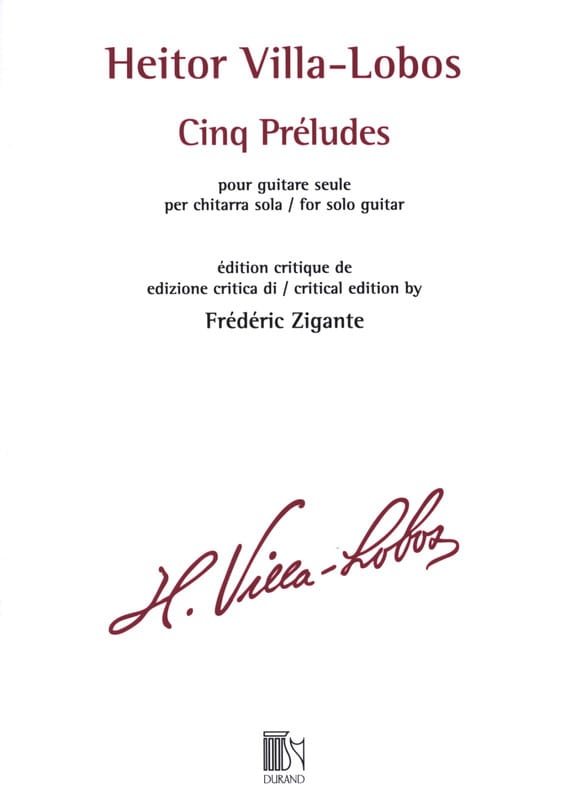 Heitor Villa-Lobos - 5 Préludes - Guitar - Partition - di-arezzo.co.uk