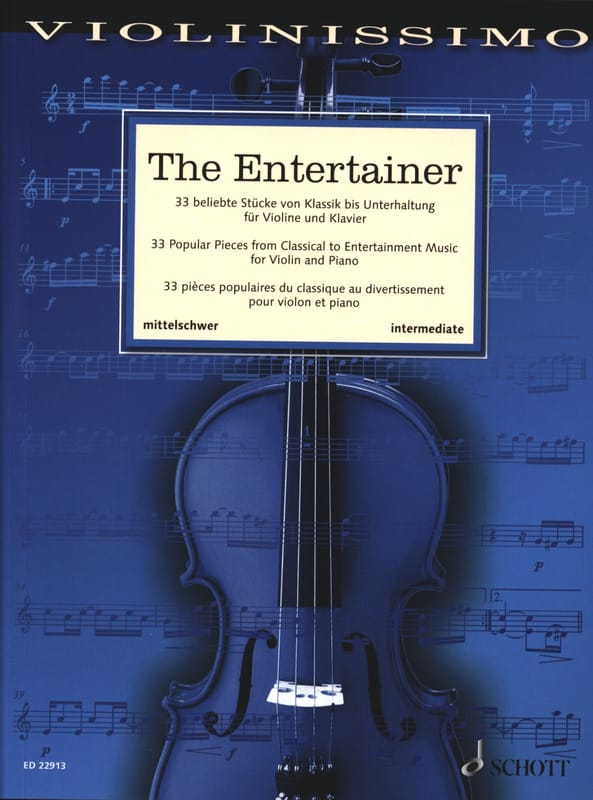 - The Entertainer - Violin and Piano - Partition - di-arezzo.com