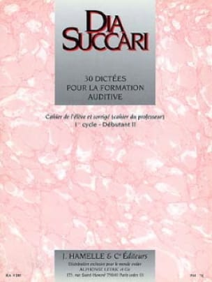 Dia Succari - Beg. 2 - 30 Dictations for auditory training - Partition - di-arezzo.co.uk