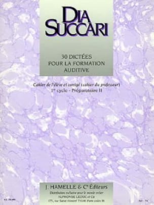 Dia Succari - Prep. 2 - 30 Dictations for auditory training - Partition - di-arezzo.co.uk