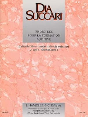 Dia Succari - Elem. 1 - 30 Dictaciones para entrenamiento auditivo - Partition - di-arezzo.es