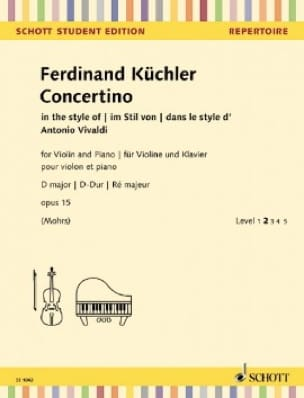 Ferdinand Küchler - Concertino, op. 15 - Partition - di-arezzo.it
