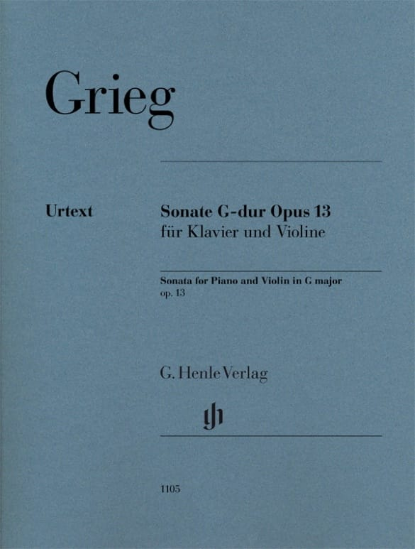 Edvard Grieg - Sonate opus 13 - Partition - di-arezzo.co.uk