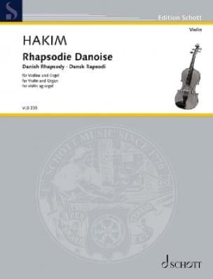 Rhapsodie Danoise - Naji Hakim - Partition - Violon - laflutedepan.com
