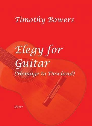 Elegy for Guitar - Thimothy Bowers - Partition - laflutedepan.com