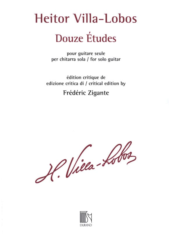Heitor Villa-Lobos - 12 Etudes - Guitar - Partition - di-arezzo.co.uk
