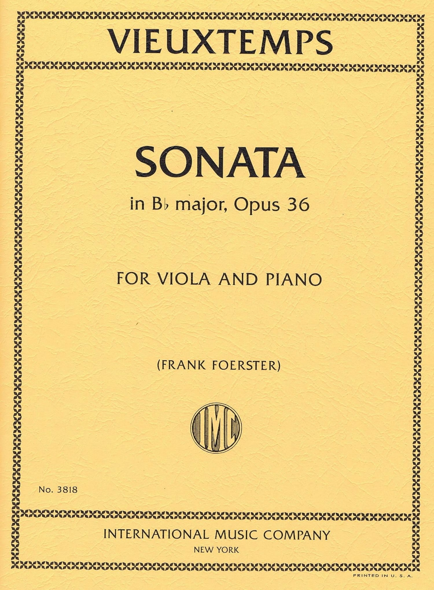 Henri Vieuxtemps - Sonate, Op. 36 - Partition - di-arezzo.es