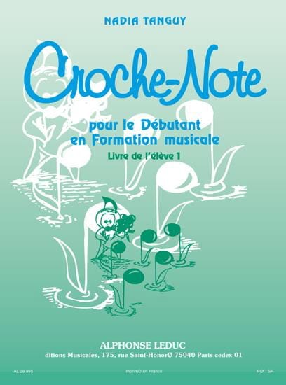 Croche-Note - Volume 1 - Nadia Tanguy - Partition - laflutedepan.com