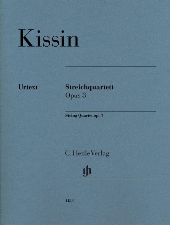 Quatuor à Cordes, op. 3 - Evgeny Kissin - Partition - laflutedepan.com