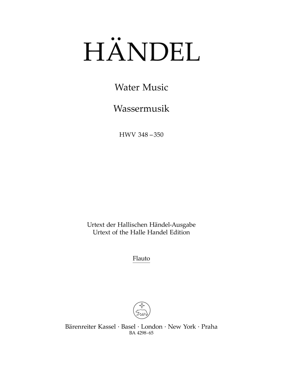 Water Music HWV 348-350 - HAENDEL - Partition - laflutedepan.com