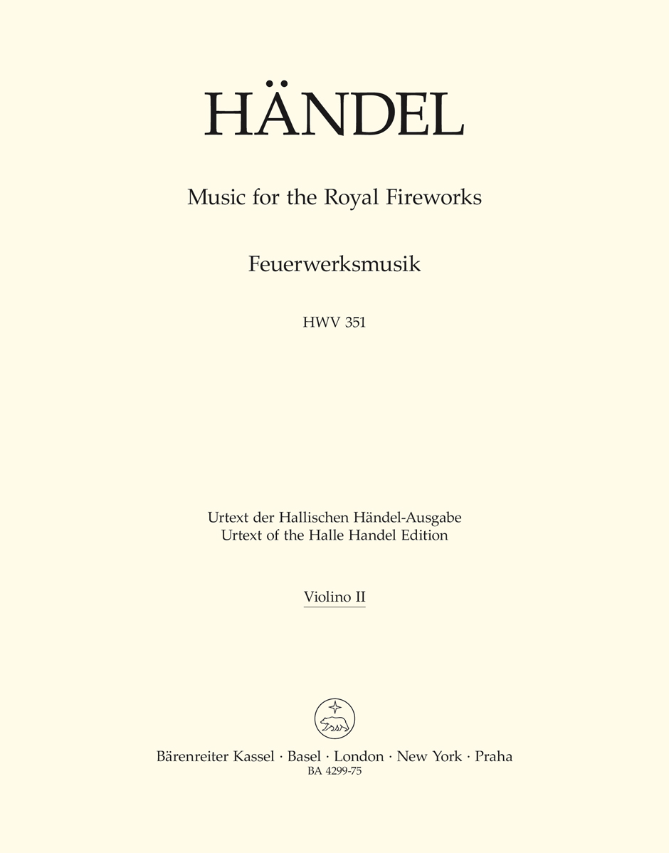 Music for the Royal Fireworks HWV 351 - HAENDEL - laflutedepan.com