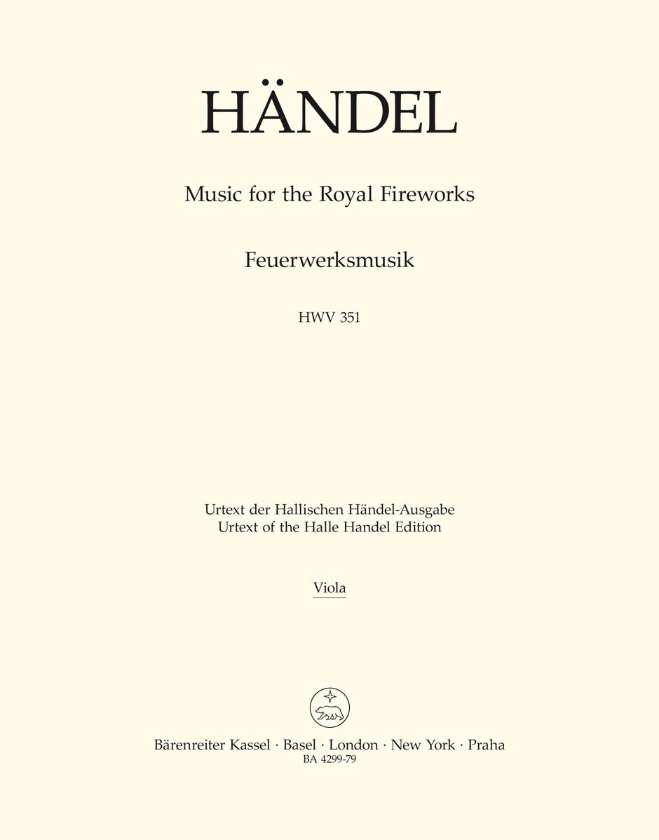 Music for the Royal Fireworks HWV 351 - HAENDEL - laflutedepan.com