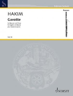 Gavotte - Naji Hakim - Partition - Basson - laflutedepan.com