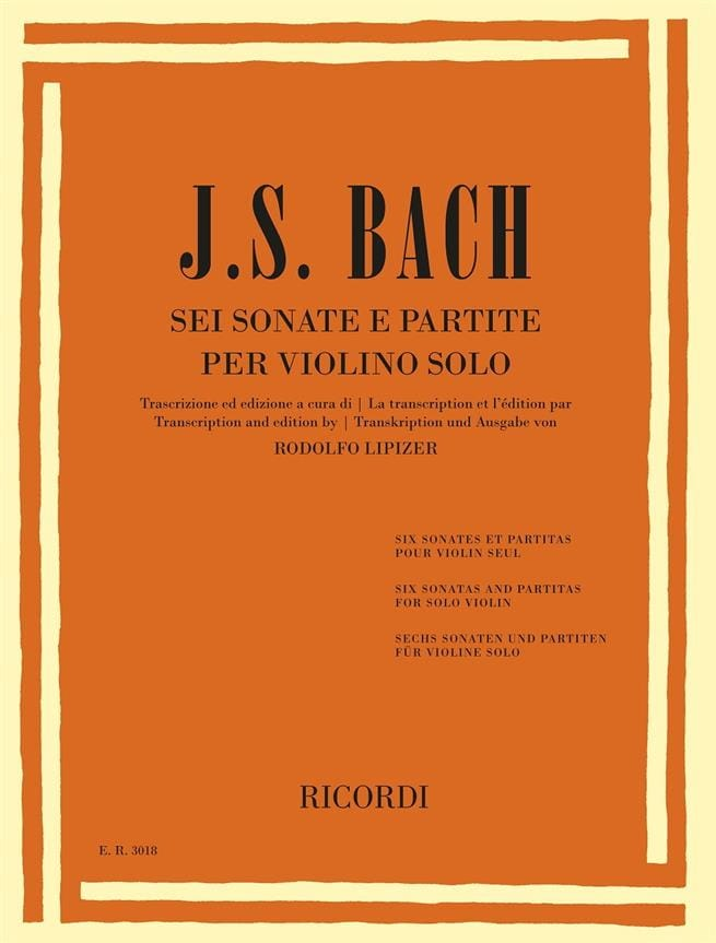 Johann Sebastian Bach - 6 Sonatas and Partitas - Partition - di-arezzo.co.uk