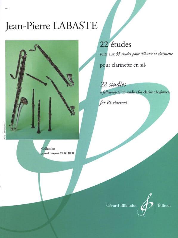 Jean-Pierre Labaste - 22 Etudes - Clarinet - Partition - di-arezzo.co.uk