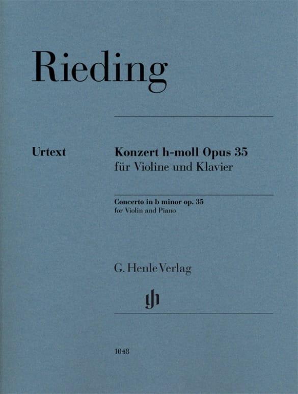 Oskar Rieding - Concierto, Op. 35 - Partition - di-arezzo.es