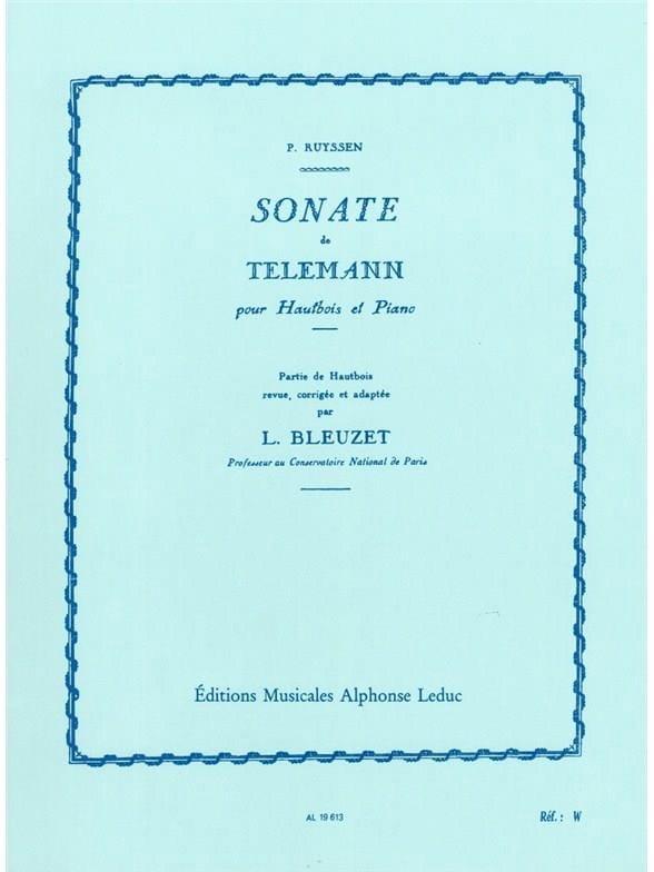 TELEMANN - Sonate - Oboe and piano - Partition - di-arezzo.com