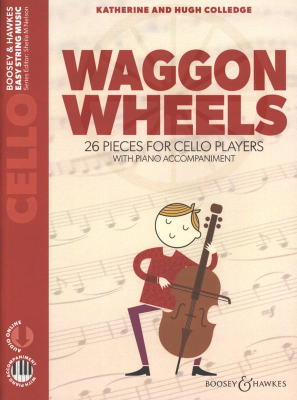 Katherine & Hugue Colledge - Waggon Wheels - Violoncelle - Partition - di-arezzo.fr