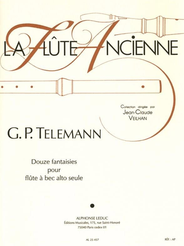 TELEMANN - 12 Fantasies - fl. with alto nose - Partition - di-arezzo.co.uk
