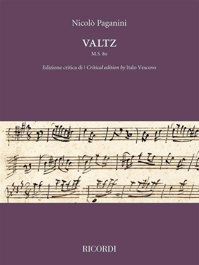 Niccolò Paganini - Waltz, MS 80 - Partition - di-arezzo.co.uk
