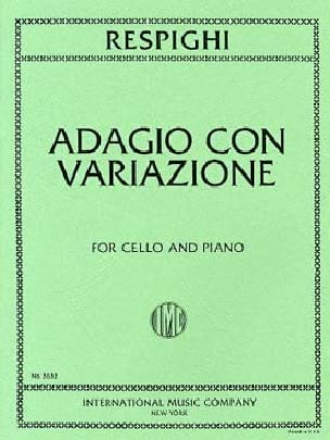 Ottorino Respighi - Adagio with Variazioni - Partition - di-arezzo.co.uk