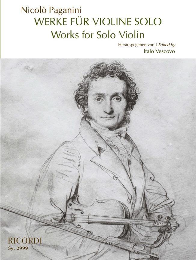 Niccolò Paganini - Works for Solo Violin - Partition - di-arezzo.co.uk