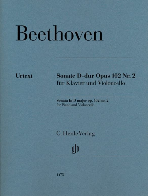 Ludwig van Beethoven - Sonata, opus 102 n ° 2 - Partition - di-arezzo.com