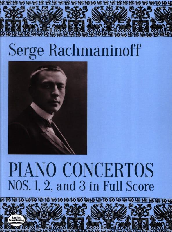Sergei Rachmaninov - Concerti per pianoforte n. 1, 2 e 3 - Partition - di-arezzo.it