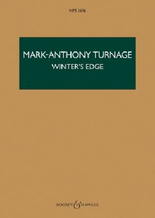 Winter's Edge - Mark-Anthony Turnage - Partition - laflutedepan.com
